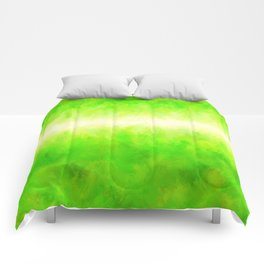 Yellow Green Lime Grass Comforters