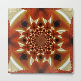 Dazzling Spiral Metal Print