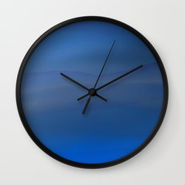 Cerulean dreams Wall Clock