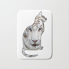 WHITE CATS Bath Mat