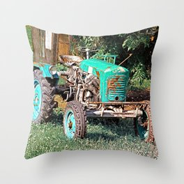 Old traditional Lindner tractor | conceptual photography Throw Pillow