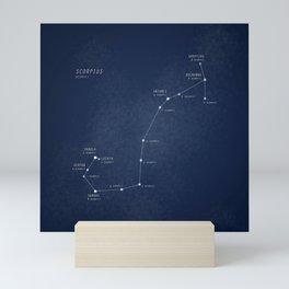 Scorpius constellation star map Mini Art Print