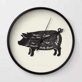 PORK BUTCHER DIAGRAM (pig) Wall Clock