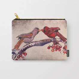 Kissing Cardinals Carry-All Pouch