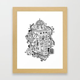 Impossible Buildings Framed Art Print