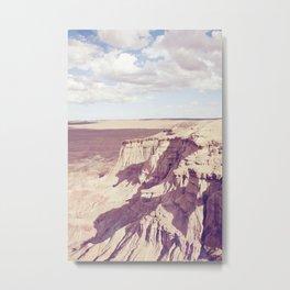 Flaming cliffs in Mongolia II Metal Print
