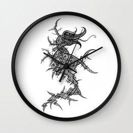 Seahorse Neuro-Skeletal Matrix Wall Clock