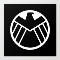 shield Canvas Prints featuring SHIELD by Bastien13