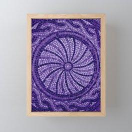 Ultra Violet Stone Tiles 18-3838 Framed Mini Art Print