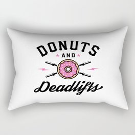 Donuts And Deadlifts v2 Rectangular Pillow