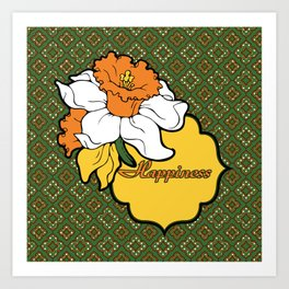 Qua-trefoil Daffodils Art Print