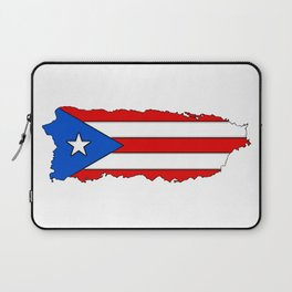 Puerto Rico Map with Puerto Rican Flag Laptop Sleeve