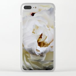 Adelaide Peony Clear iPhone Case