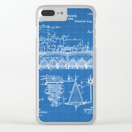 Brewing Beer Patent - Beer Art - Blueprint Clear iPhone Case