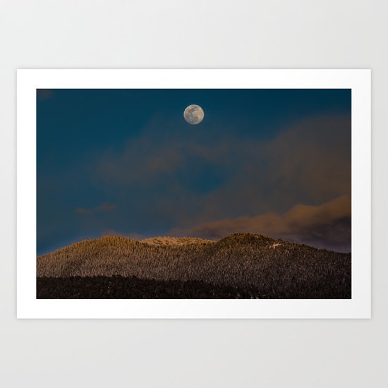 Colorado Moonrise Art Print