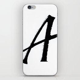 Letter A Ink Monogram iPhone Skin