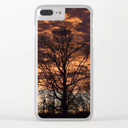 Sky on Fire in Tennessee Clear iPhone Case