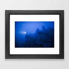 Foggy Mountain Framed Art Print