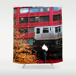 Red EL - Chicago Shower Curtain