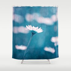 love in blue Shower Curtain