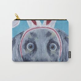 Easter Bunny Weimaraner Carry-All Pouch