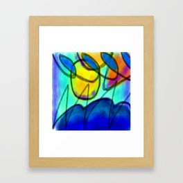 Colorful Abstract Digital Painting by Jackie Ludtke Framed Art Print