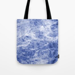 Deep blue sea marble texutre Tote Bag