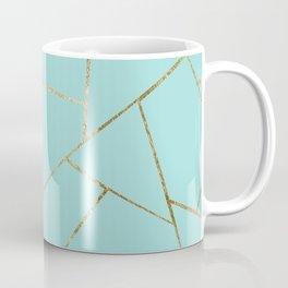 Soft Turquoise Gold Geometric Glam #1 #geo #decor #art #society6 Coffee Mug