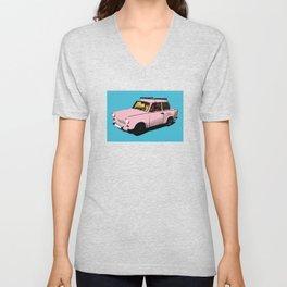 Trabant pink pop Unisex V-Neck