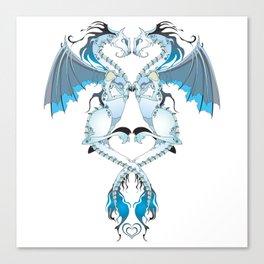 Azure Love Dragons Canvas Print