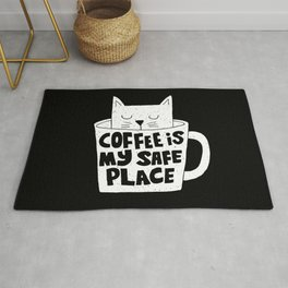 coffee is my safe place Rug