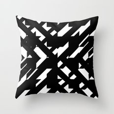 Shattered Hound Throw Pillow