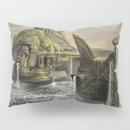 Aztec Island   Concept Environmental Landscape Concept Design Pillow Sham