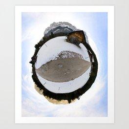 Alpine Sheds, Germany Art Print