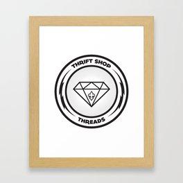 Thrift Shop Threads Button_Diamond Framed Art Print