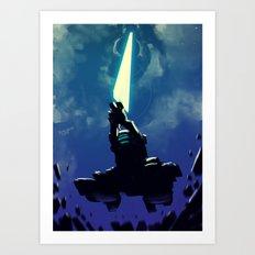 Planet Cutter Sword Art Print