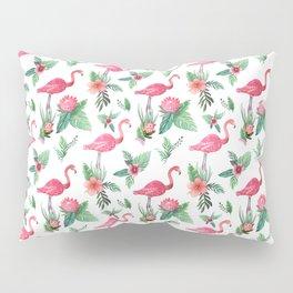 Flamingo Floral Tropical Pillow Sham