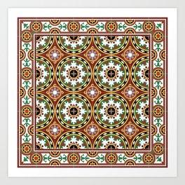 "Caribbean Tile ""Bombonera"" Art Print"