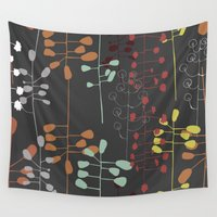 wallpaper Wall Tapestries featuring RETRO WALLPAPER by Anna Eve