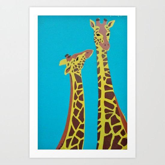 Jeffery & Cosmo Art Print
