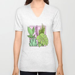 Framed Plants Unisex V-Neck