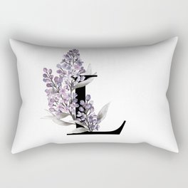 Letter 'L' Lilac Rectangular Pillow