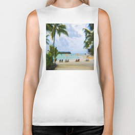 A Dreamy Day at a Tahitian Beach, Bora Bora Biker Tank
