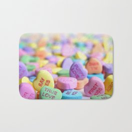 Valentine's Day Candy Hearts Bath Mat