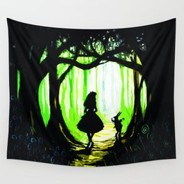 alice and rabbits Wall Tapestry