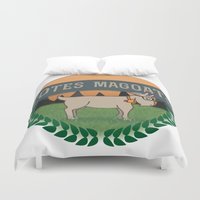 totes Duvet Covers featuring Totes Magoats by LaurenPyles