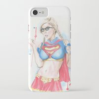 supergirl iPhone & iPod Cases featuring Supergirl by James Murlin