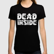 Dead Inside Black MEDIUM Womens Fitted Tee