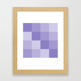Four Shades of Lavender Square Framed Art Print