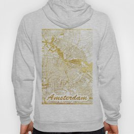 Amsterdam Map Gold Hoody